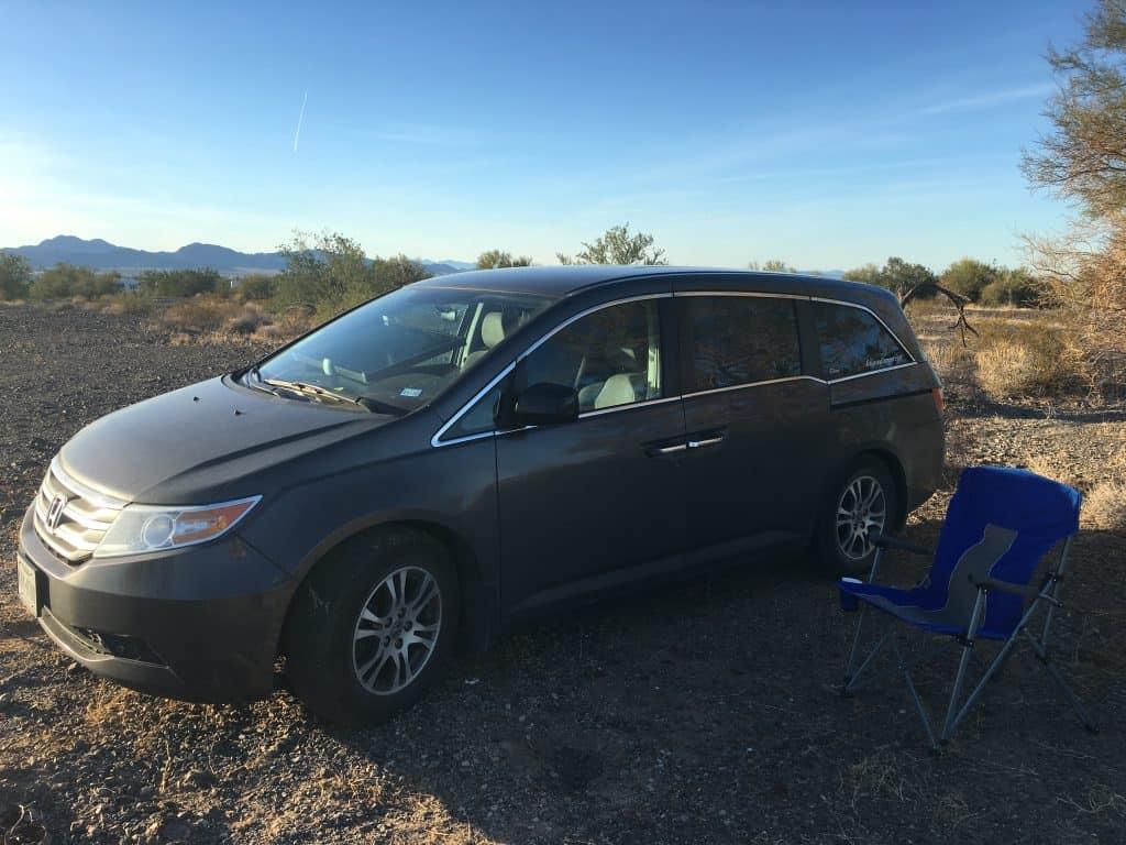 Honda Odyssey minivan RV camper