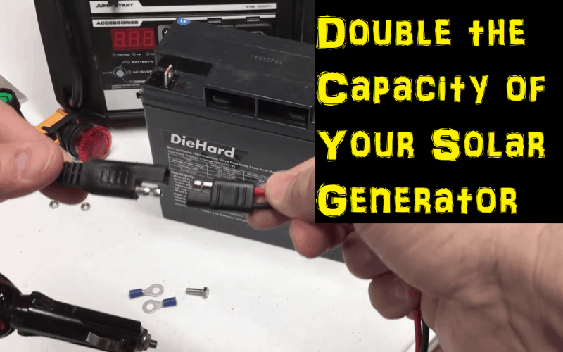 Add a battery to your DIY solar generator