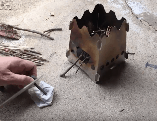 DIY Start a fire with swedish steel