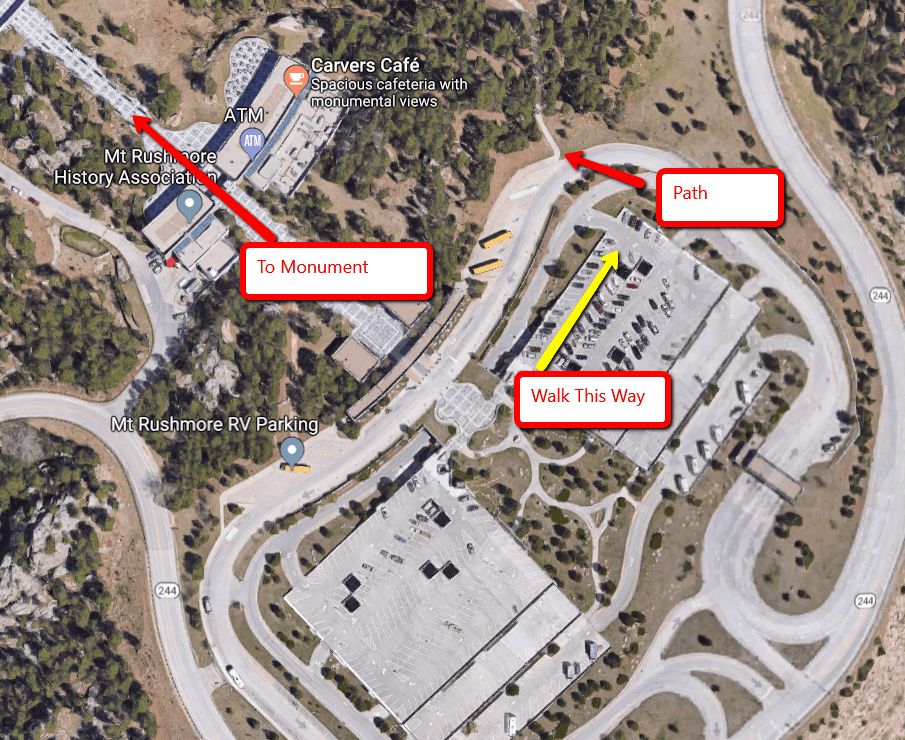 Parking Directions at Mt. Rushmore