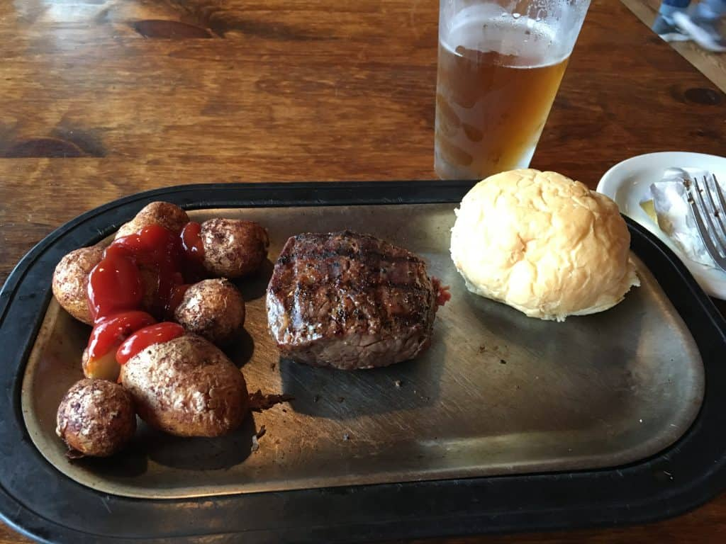 Steakhouse near mount rushmore